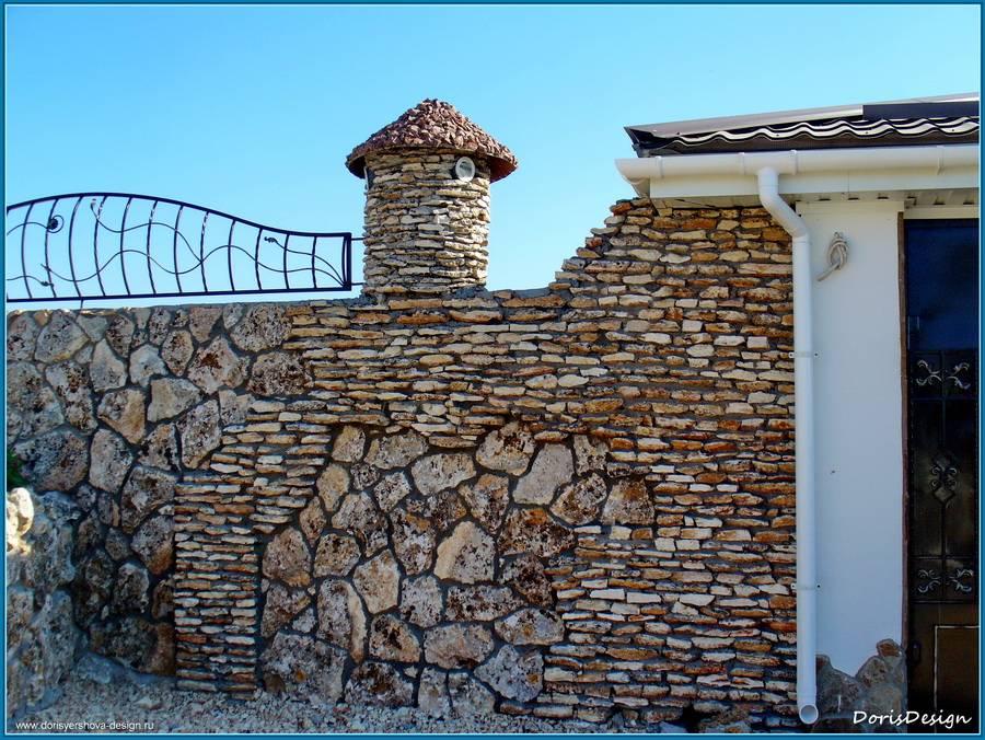 Облицовка известняком. Жилой дом. Тарханкут. Оленевка. Фото - © Дорис Ершова