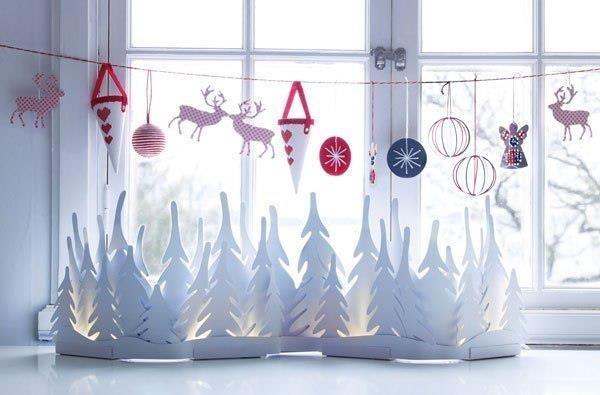 Оформление окна своими руками на новый год