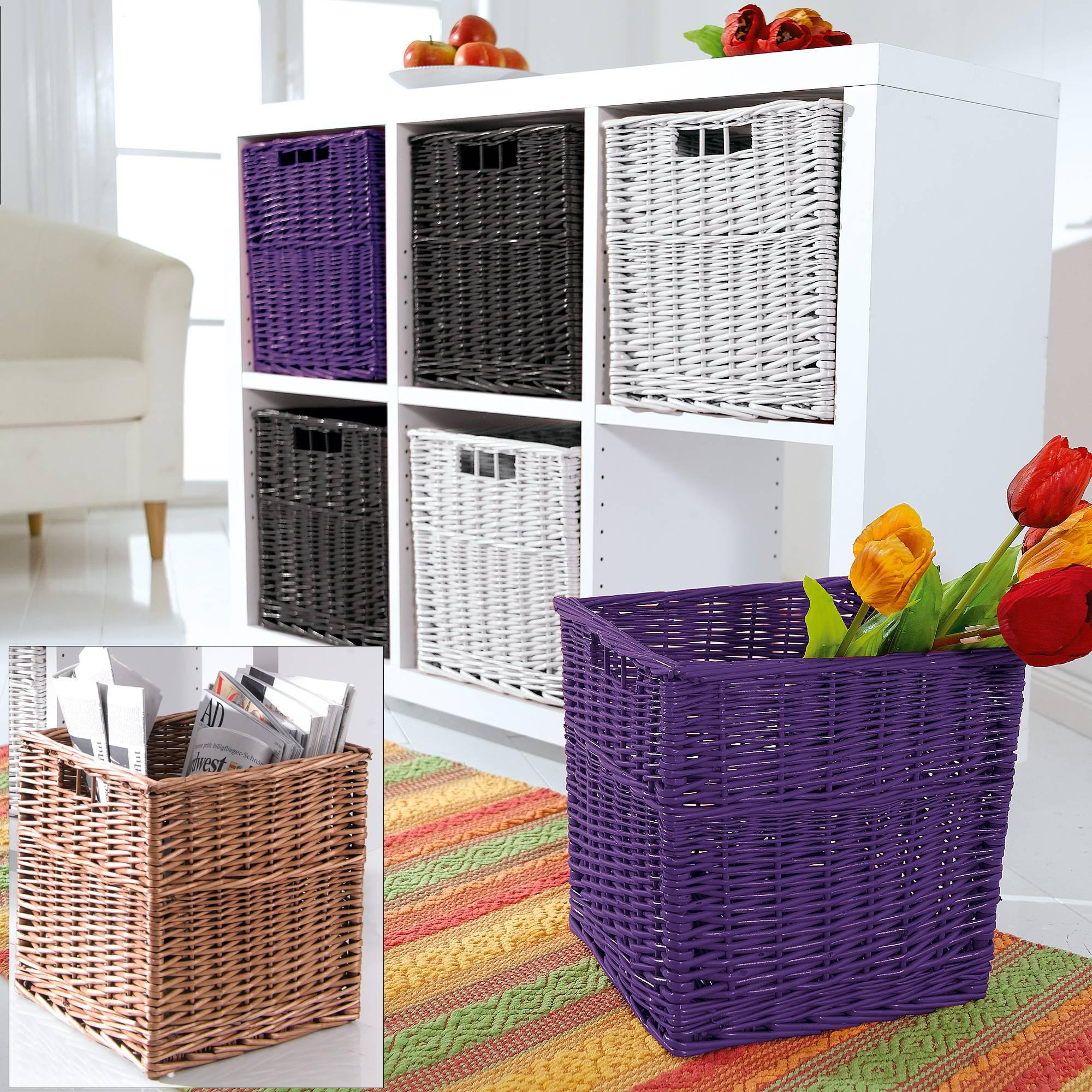 Плетеные корзины для дизайна
