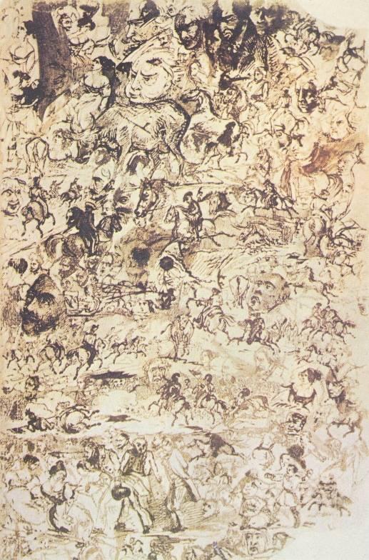 М.Ю.Лермонтов. Рисунки на полях «Вадима» 1832-34