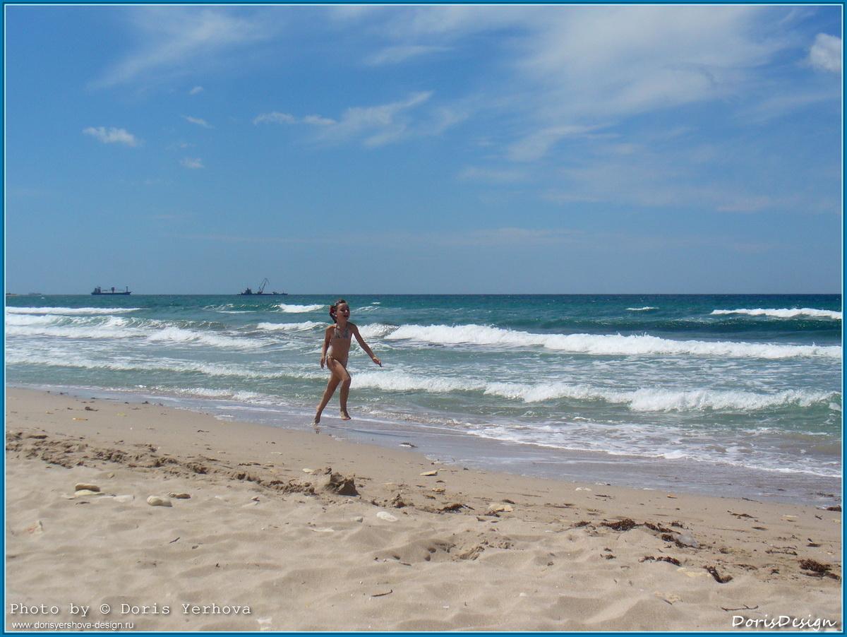 Я лечу! Фото - Дорис Ершова, море, Оленевка, Крым, пляж, лето